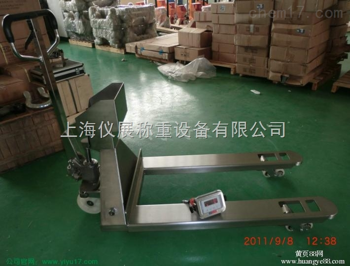 佛坪304材质不锈钢叉车秤,3000公斤地牛叉车秤出售