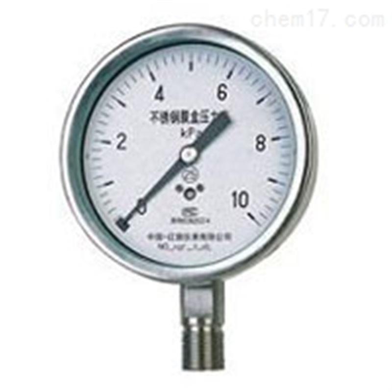 不锈钢膜盒压力表YE-60B价格