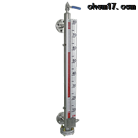 UQC-C17系列蒸汽夹套加热型磁翻板液位计上海自动化仪表五厂