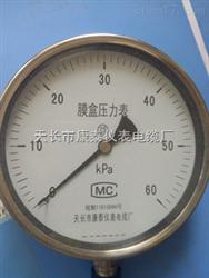 真空型膜盒压力表 YE60压力表 -2.5-0