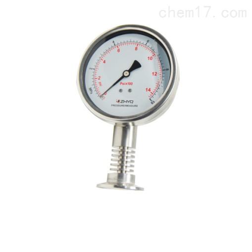卡箍式卫生隔膜压力表