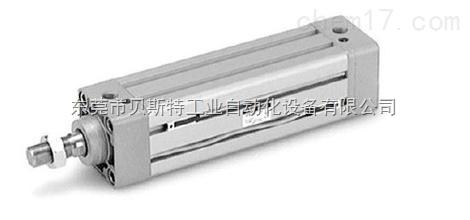 2)端盖 端盖上设有进排气通口日本smc气缸,有的还在端盖内设有缓冲图片