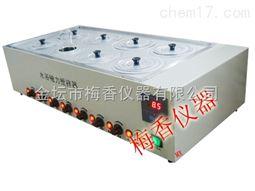 台式智能型8孔不锈钢磁力水浴锅搅拌器
