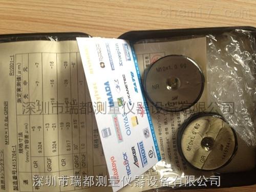 深圳代理日本JPG螺纹环规塞规M10x1.0 6g GRNR
