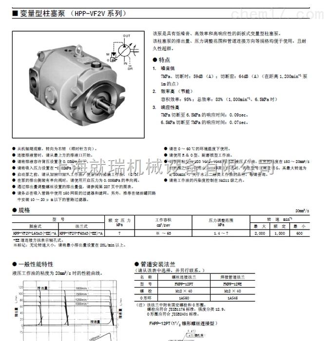 HPP-VD2V-L31A5-A,丰兴变量型柱塞泵