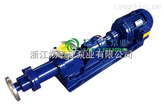 I-1B型2寸浓浆泵|污泥泵|不锈钢浓浆泵|螺杆泵3KW浓浆泵
