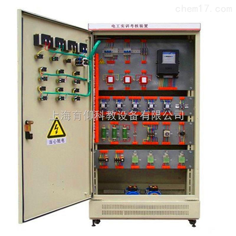 """一、YUY-760A初级电工.电拖实训考核装置(柜式)特点: YUY-760A初级电工、电拖实训考核装置是按照劳动社会保障部颁发的""""工人技术等级标准""""和""""职业技能鉴定规范""""的内容要求,根据初级电工培训考核的实际情况而设计的新一代集培训学习、理论验证、实际操作能力、考核鉴定于一体的多功能柜式设备。整台设备以标准的电气控制柜为主柜,利用柜体的双面空间,布置电器及配套实验器材,能完成初级电工考核鉴定中的电力拖动控制与照明电路的实操项目,该电工、电拖实训考核装置坚"""