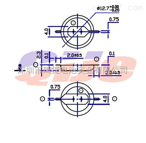 cr1220电池焊片 3v纽扣电池,cr1220焊脚电池