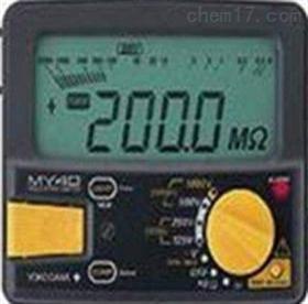 兆欧表MY40-01日本品川湿式气体流量计W-NK-0.5B