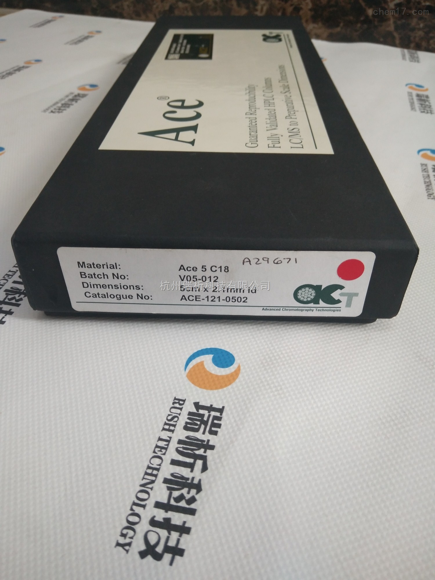 ace-121-0502色谱柱液相色谱柱material  catalogue  no   ace-121-0502