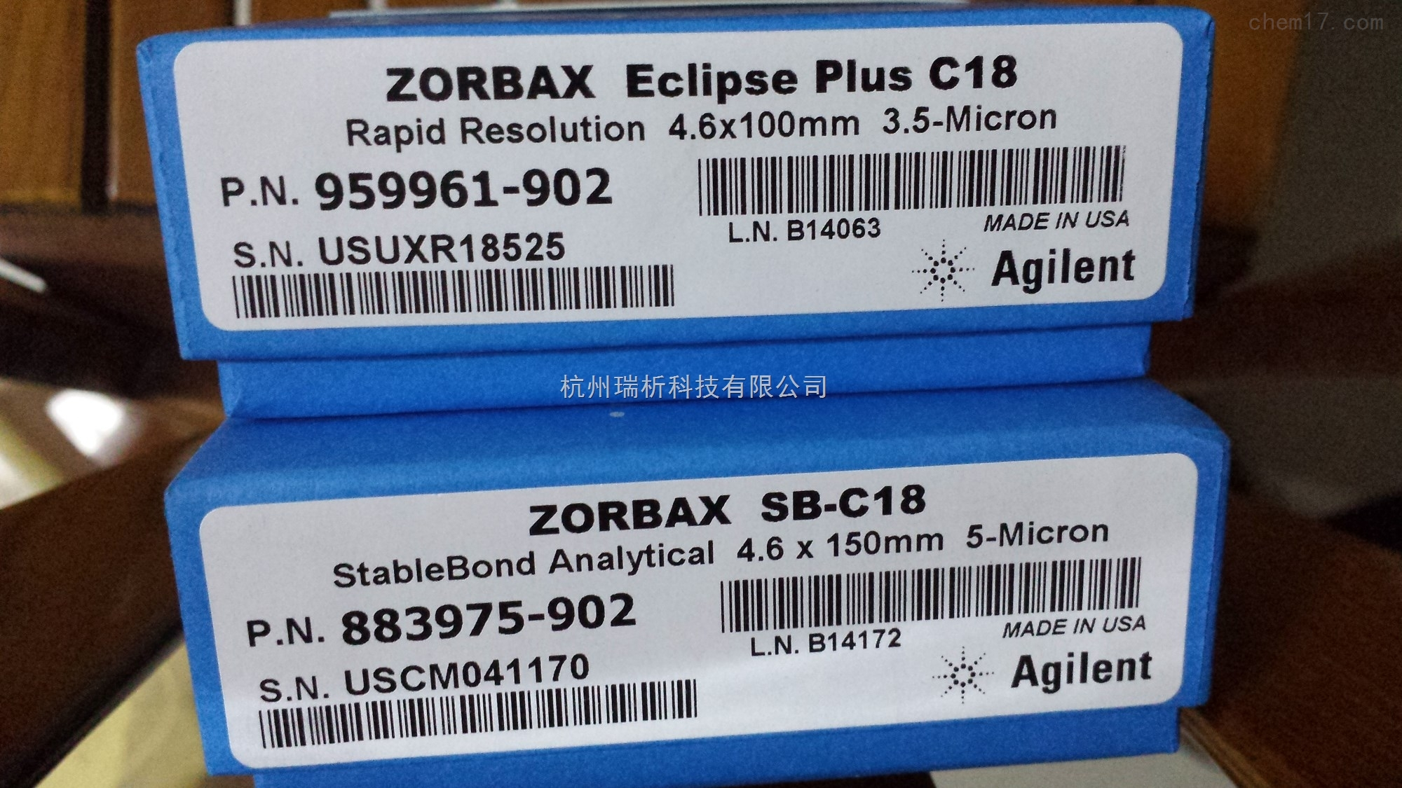 959961-902,883975-90色谱柱液相色谱柱_Agilent ZORBAX Eclipse-959961-902,883975-