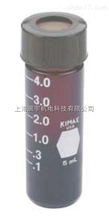 美国KIMBLE棕色微量样本瓶带中孔盖 棕色微量玻璃瓶
