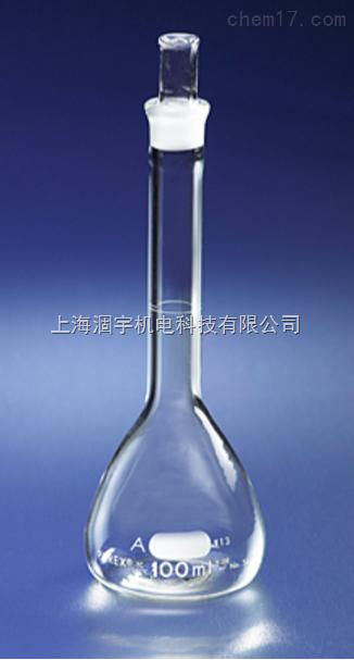 美国PYREX玻璃A级容量瓶 带塞