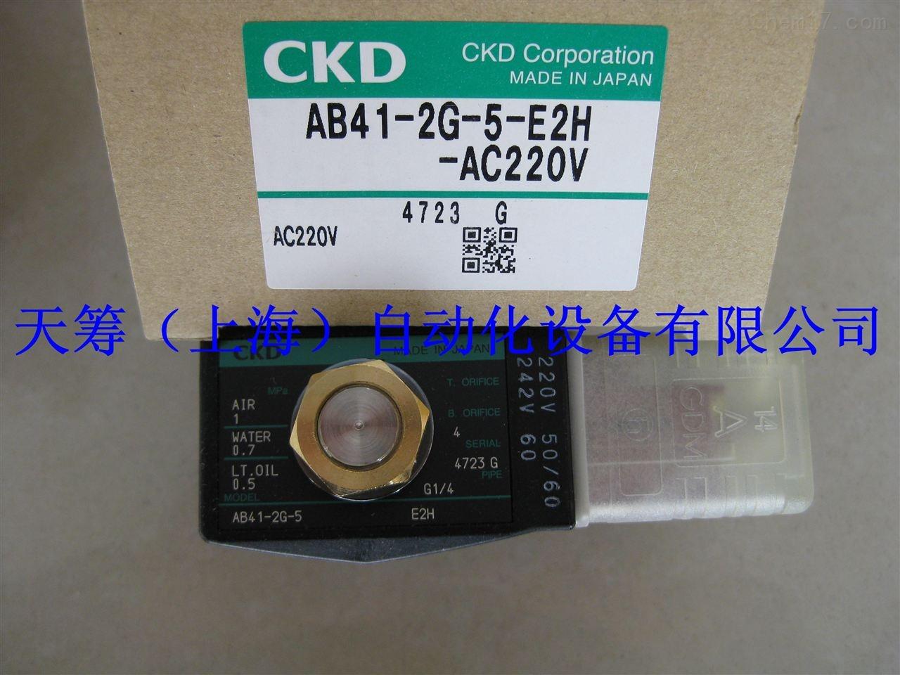 CKD电磁阀AB41-2G-5-E2H-AC220V