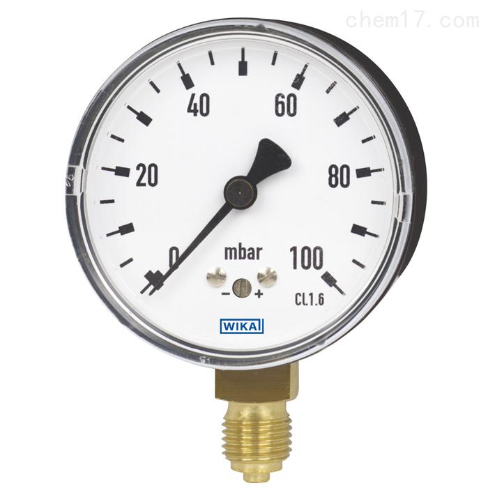 德国威卡WIKA铜合金不锈钢材质膜盒式压力表