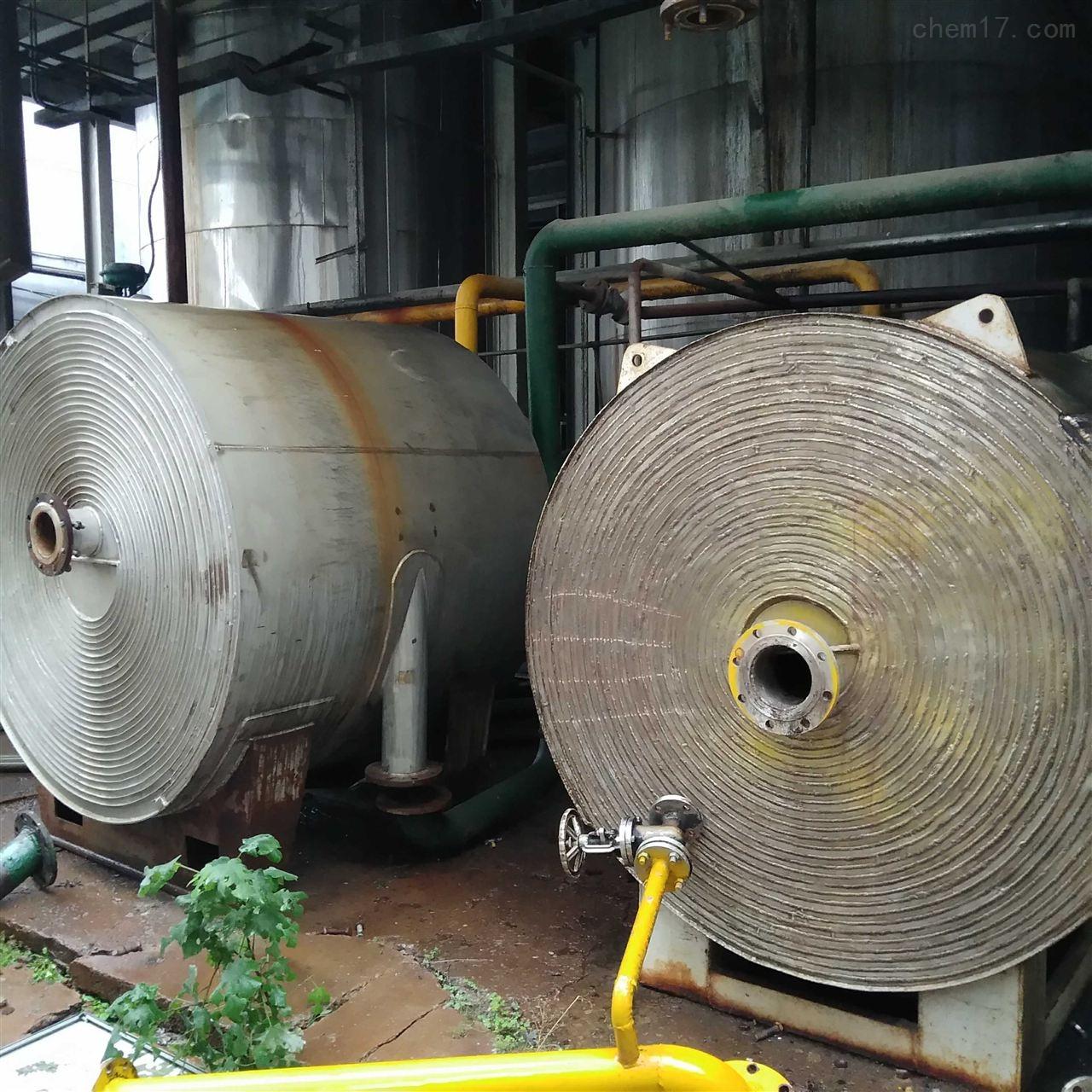 厂家直供 二手螺旋板换热器 不锈钢冷凝器