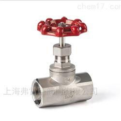 J11W美式不锈钢内螺纹截止阀,切断管路介质