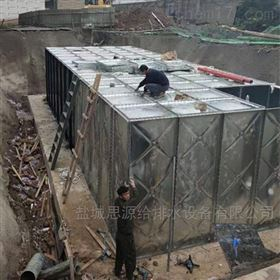 成品发货铜川地埋式箱泵一体化泵站现场安装