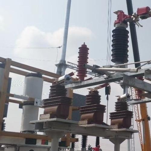 线路型GW5-35kv户外单柱高压V型隔离开关