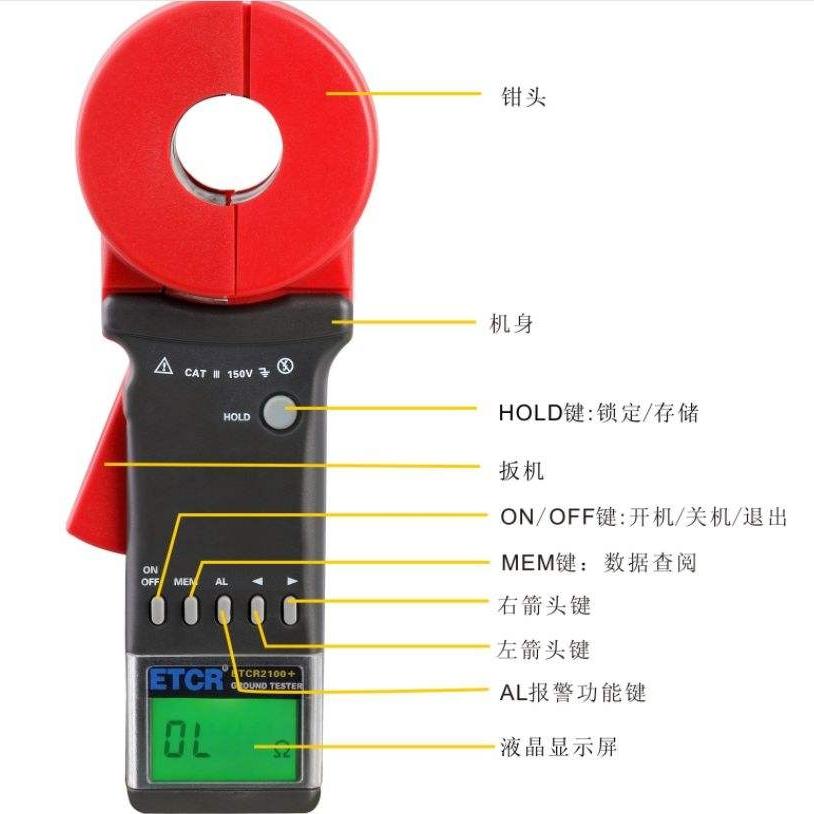 ETCR2000 钳形接地电阻仪