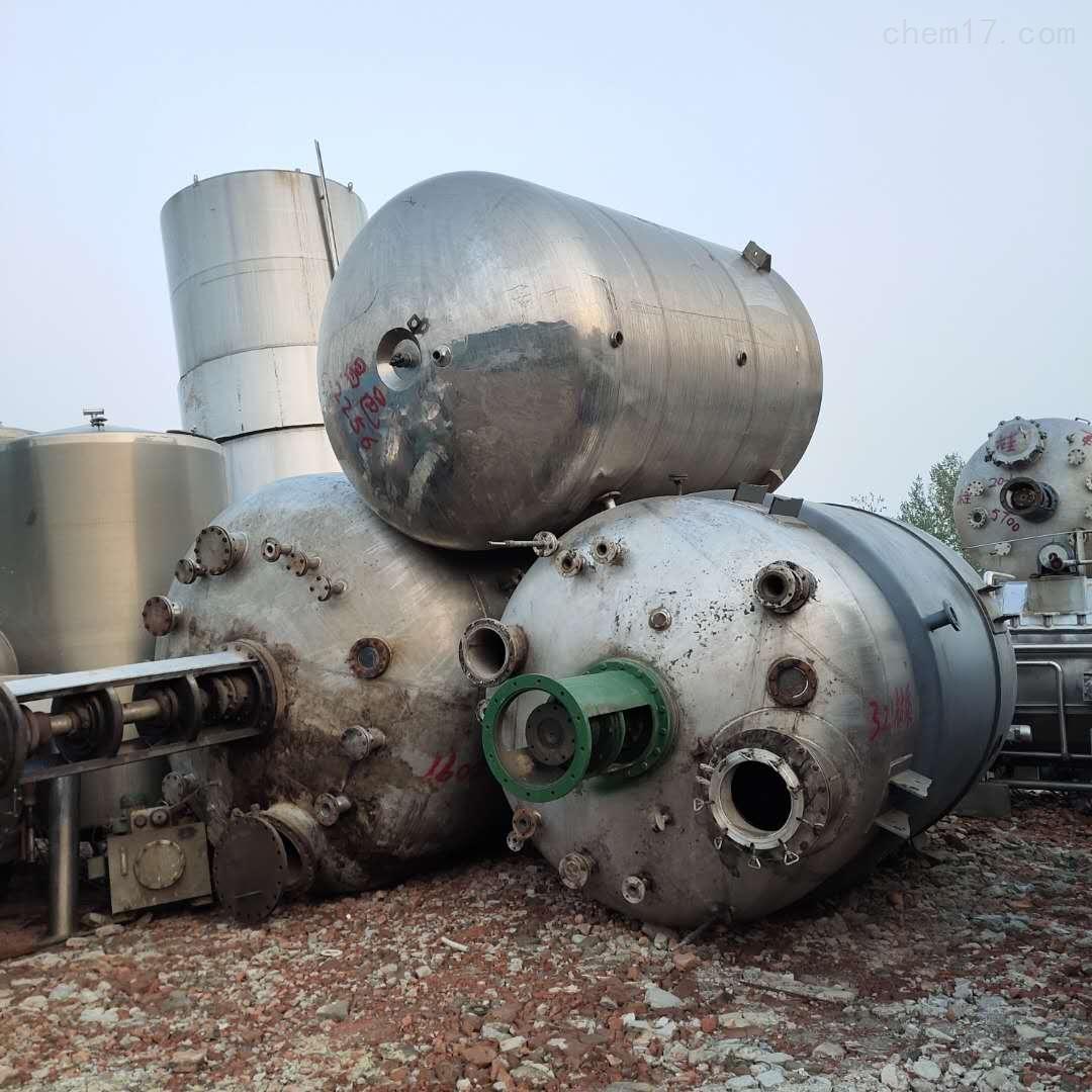 二手10立方磁力搅拌不锈钢反应釜到货多台