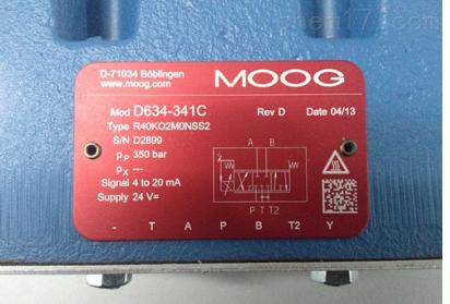 代理美国MOOG伺服阀D633/634系列大量现货