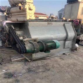二手250公斤不锈钢双轴浆叶式混合机回收