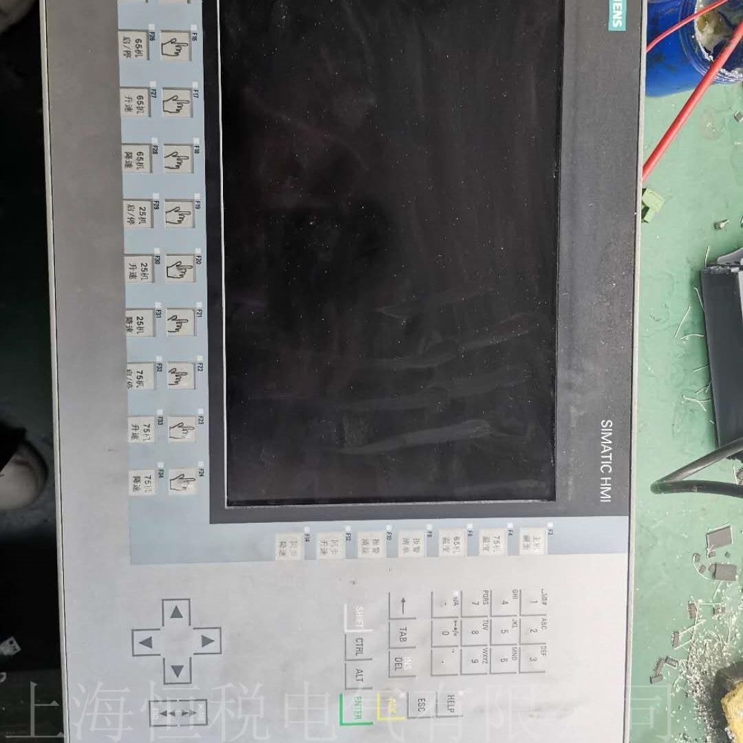 西门子TP1200开机显示花屏/闪屏维修检测