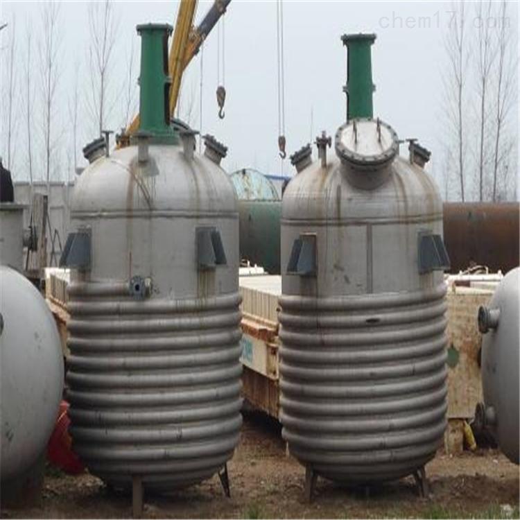 出售多种二手不锈钢外盘管高压反应釜