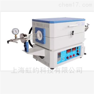 Φ60mmX800mm1400℃双温区真空管式气氛炉