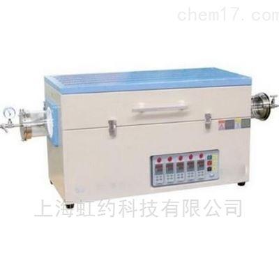 Φ60mmX1000mm1400℃三温区真空气氛管式炉