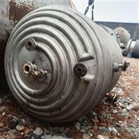 二手内外盘管不锈钢反应釜长期回收