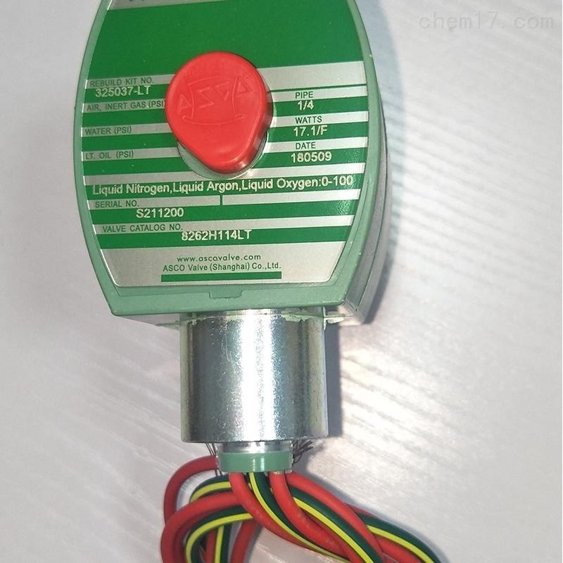美国ASCO电磁阀元器件8262G020 120/60