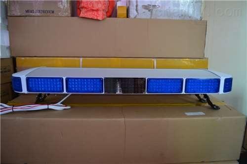 全蓝LED爆闪长排灯  带喊话喇叭 蓝色全蓝