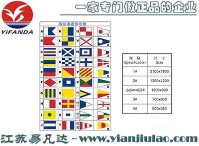 船用国际通语信号旗数字字母旗回答旗代用旗