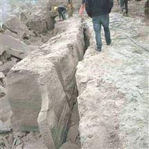岩石静态爆破施工