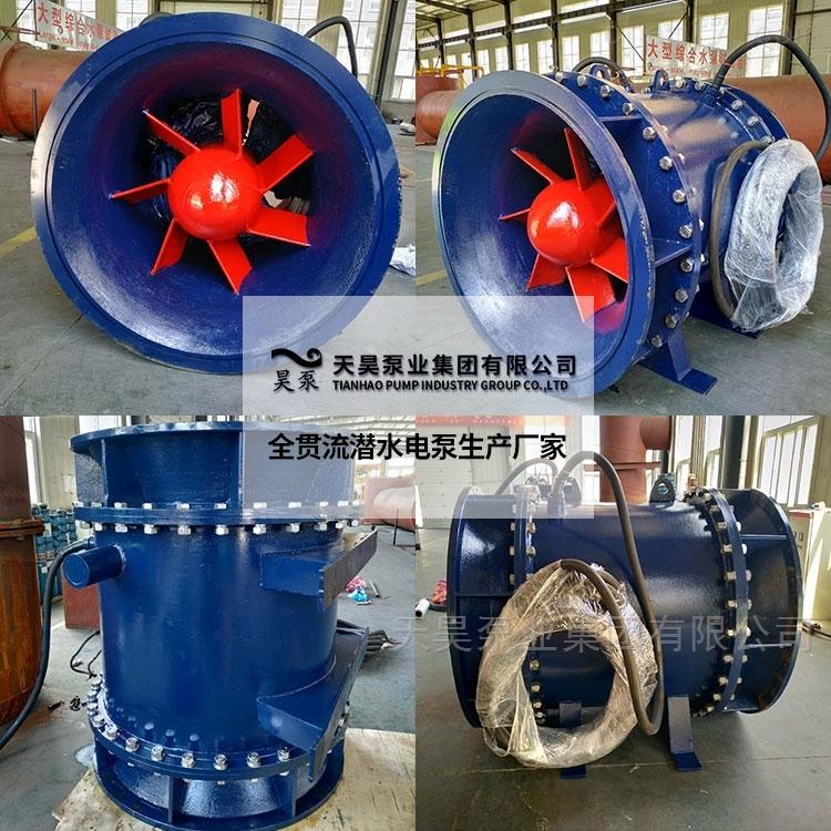 福州排涝泵站用1200QGWZ全贯流潜水电泵参数