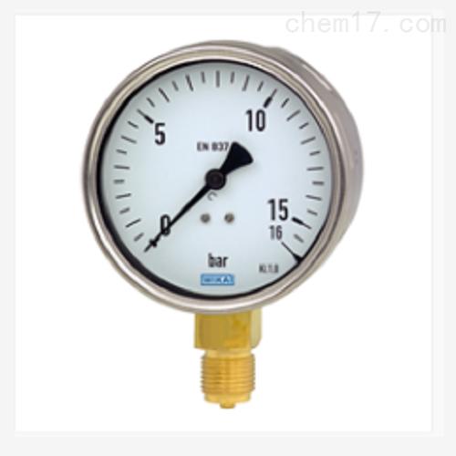 波登管压力表 不锈钢表壳 212.20