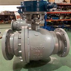 Q341F-16C-350软密封涡轮固定式碳钢球阀