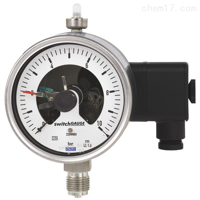 WIKA带开关电接点的波登管压力表