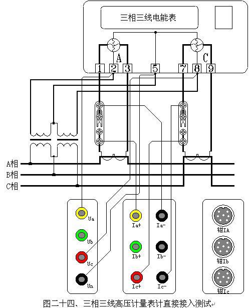单相接线方式与三相四线制接线相同
