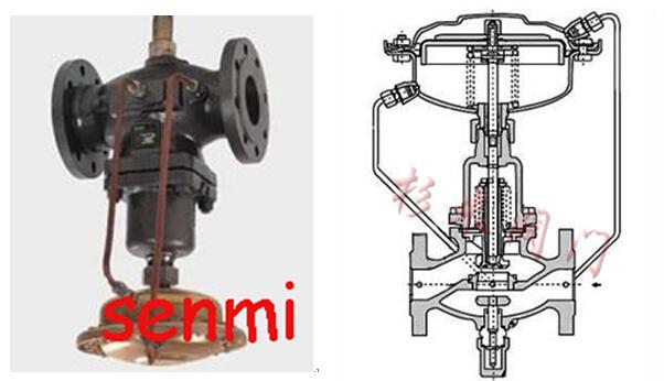 自力式流量调节阀结构图