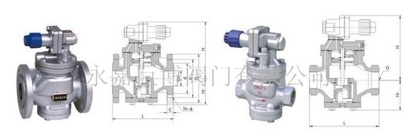 yg43h/y高灵敏度蒸汽减压阀 yg13h/y内螺纹高灵敏度蒸汽减压阀图片