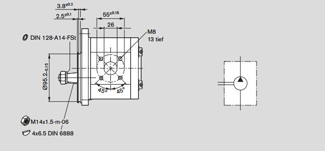 由力士乐rexroth外啮合齿轮泵齿轮油泵的工作原理可知,油液是从吸入腔