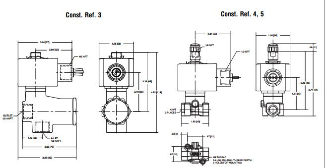 asco电磁阀三位五通电磁阀选型机械原理