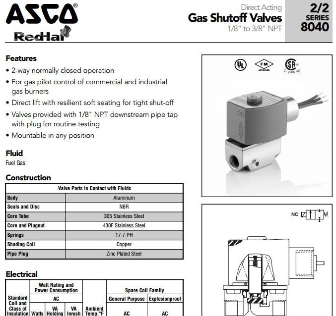 普通asco电磁阀线圈部件已采用塑料封装,减少引出线断裂的故障,同时易