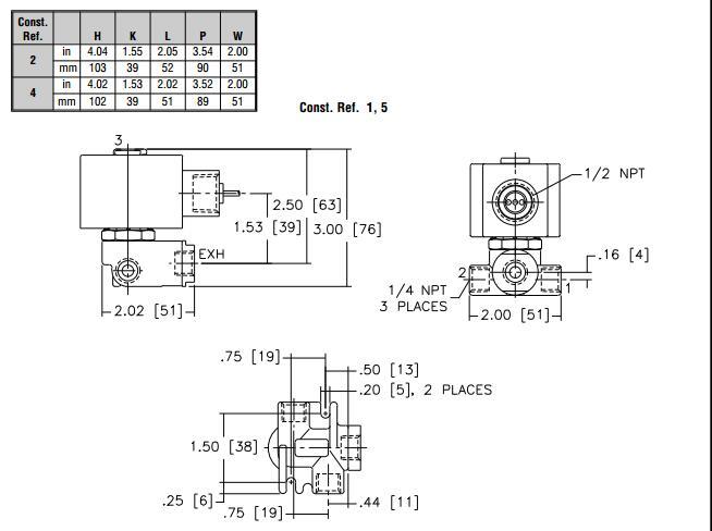 asco两位三通电磁阀电压选型原理图片