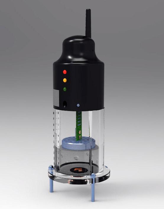hc-r型静力水准仪的结构由静力水准仪及安装架,液体连通管及固定配件