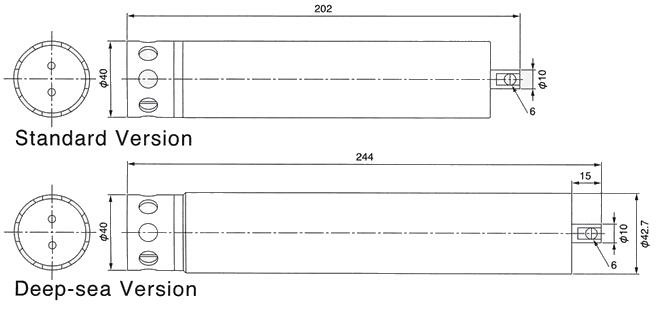 技术指标 参数 温度 深度(压力) 传感器类型 热敏电阻 半导体 测量