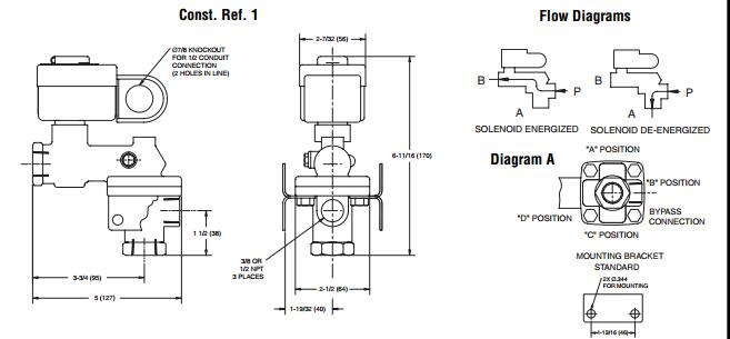 ASCO阿斯卡电磁阀8377系列工作原理 ASCO阿斯卡电磁阀8377系列里有密闭的腔,在不同位置开有通孔,每个孔都通向不同的油管,ASCO阿斯卡电磁阀8377系列腔中间是阀,两面是两块电磁铁,哪面的磁铁线圈通电阀体就会被吸引到哪边,ASCO阿斯卡电磁阀8377系列通过控制阀体的移动来档住或漏出不同的排油的孔,ASCO阿斯卡电磁阀8377系列而进油孔是常开的,ASCO阿斯卡电磁阀8377系列液压油就会进入不同的排油管,ASCO阿斯卡电磁阀8377系列然后通过油的压力来推动油缸的活塞,ASCO阿斯卡电磁阀8
